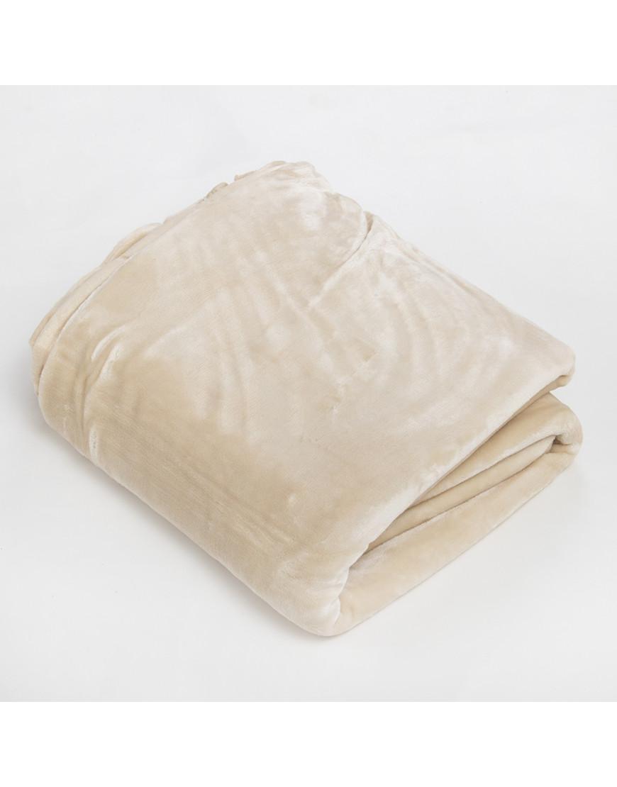بطانية قطيفة مزدوج طبقتين كريمي