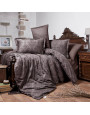 Kavala Brown Duvet Cover Double 6-Piese Set