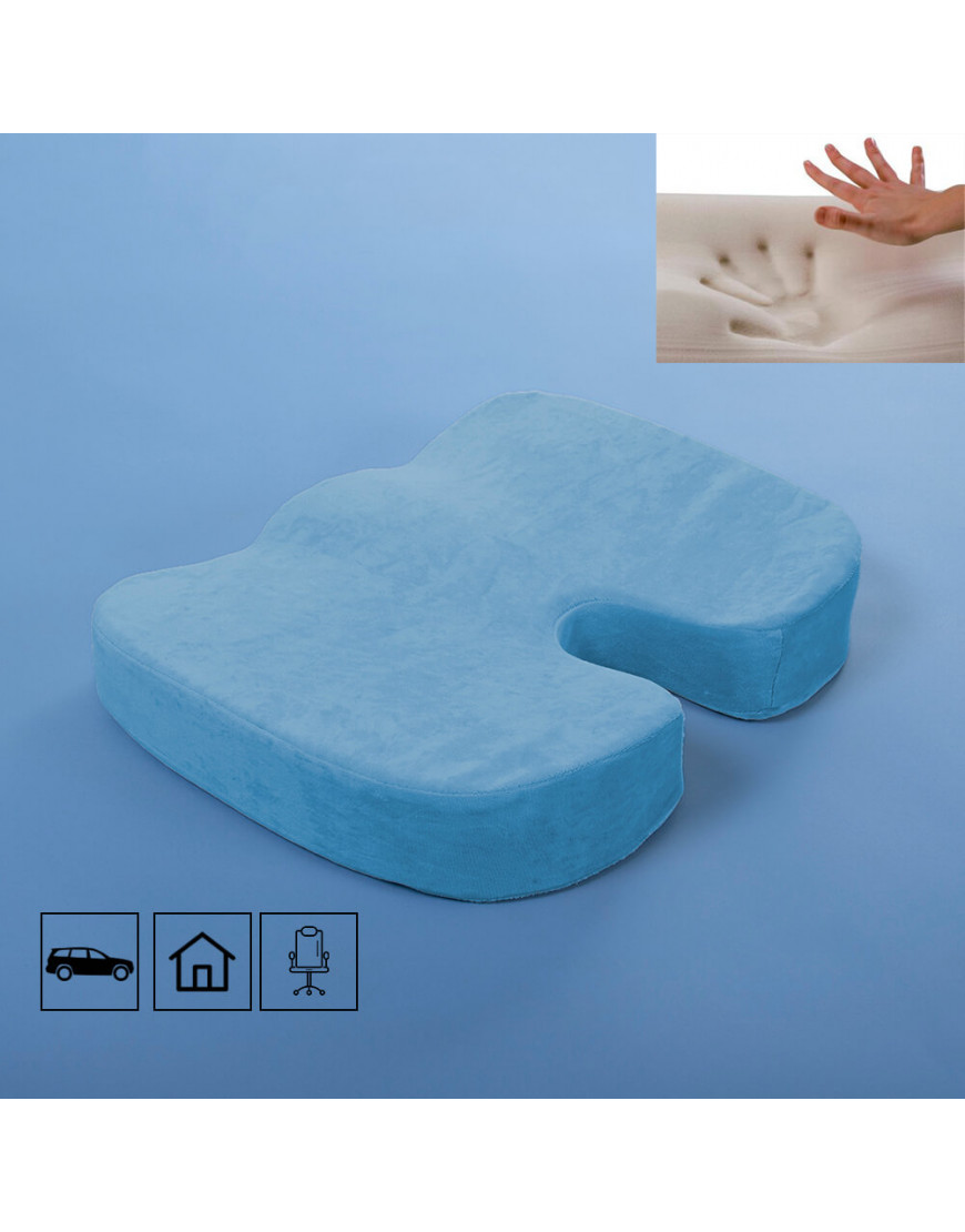 وسادة كرسي فوم لون أزرق