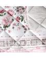 مفرش مونيلا صيفي مفرد ونص وردي مورد عدد القطع 4