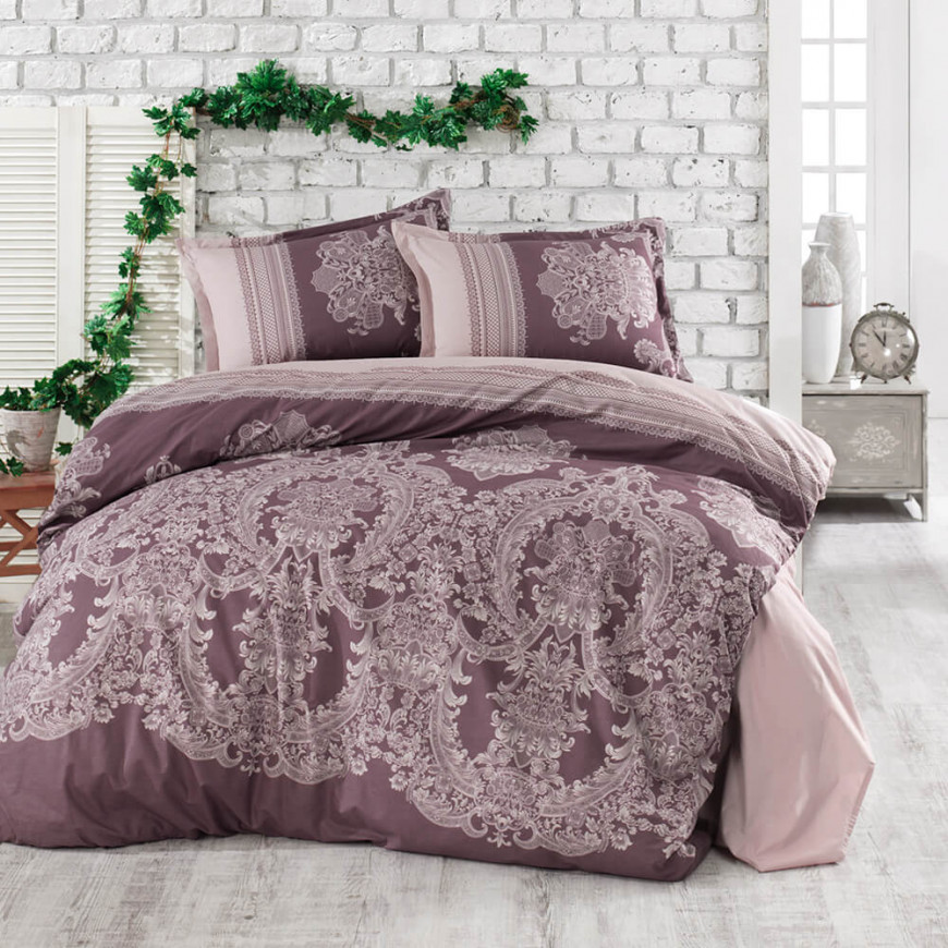 Oslo Browen Duvet Cover Double 6-Piese Set