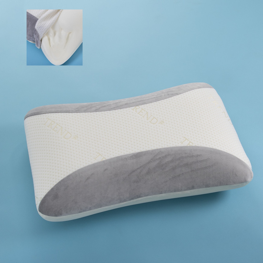 Foam Pillow White And Grey Medium Support