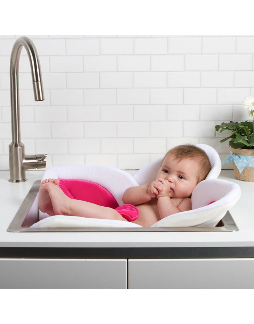 وسادة استحمام للأطفال blooming bath لون وردي