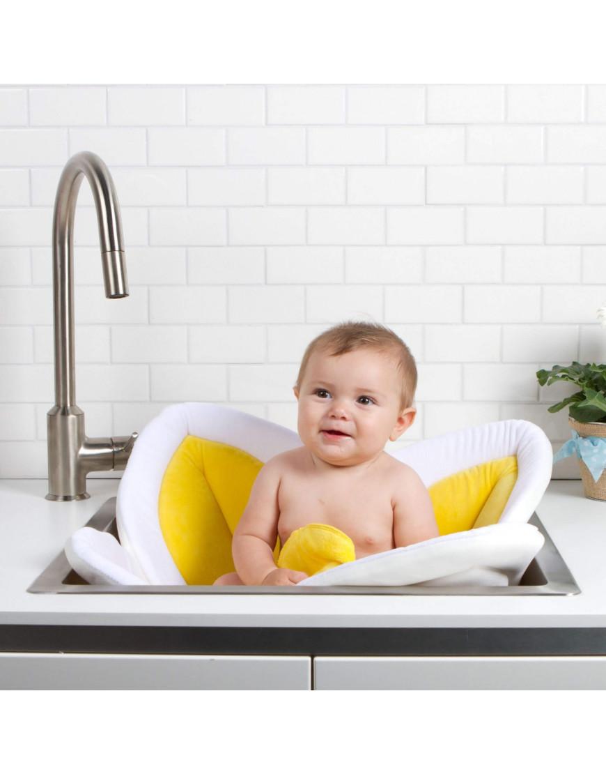 وسادة استحمام للأطفال blooming bath لون أصفر و أبيض